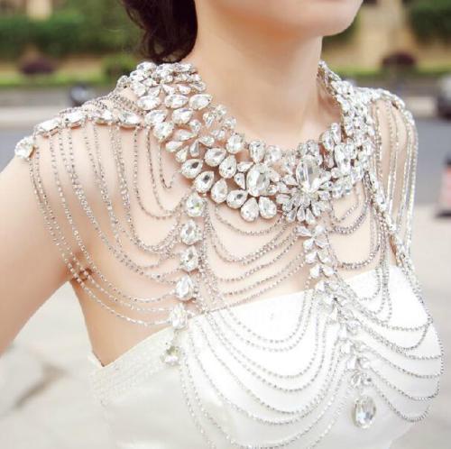 Wholesale Vintage Wedding Bridal Jewelry Set Shoulder Chain