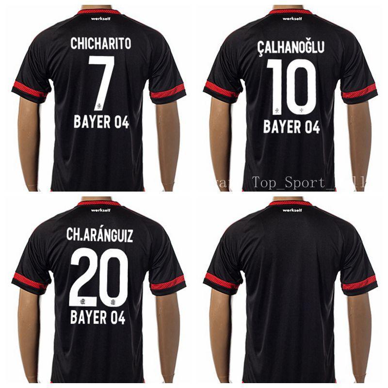 Acquista Soccer Bayer 04 Leverkusen Maglia Da Calcio Jersey Club 10 CALHANOGLU 7 CHICHARITO 20 CH.ARANGUIZ Road Away Maglia Da Calcio Personalizzata ...
