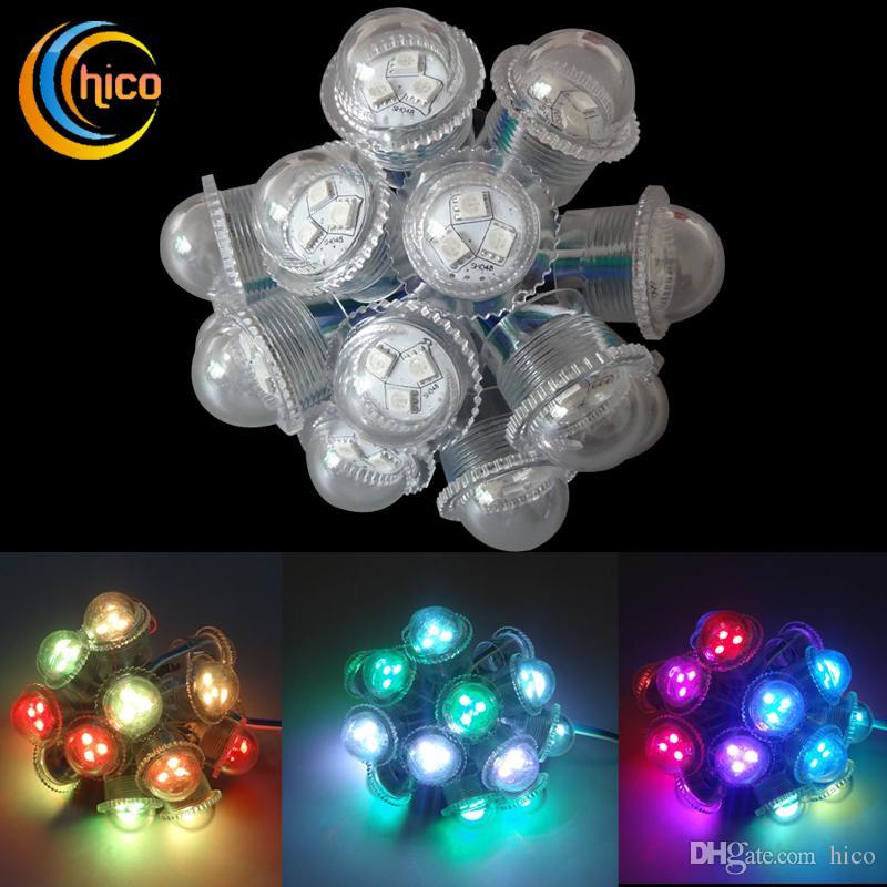 Светодиодные рождественские огни 26 мм светодиодные точечные светильники пиксель света партии свет прозрачный водонепроницаемый для наружного использования бесплатная доставка