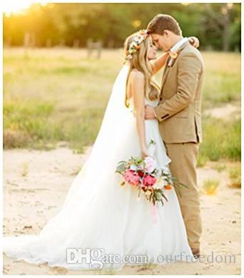 2 M Comprimento Véus de Noiva das mulheres 2 Camada Capela Comprimento de Tule Véus de Noiva com Pente Acessórios Do Casamento 11059