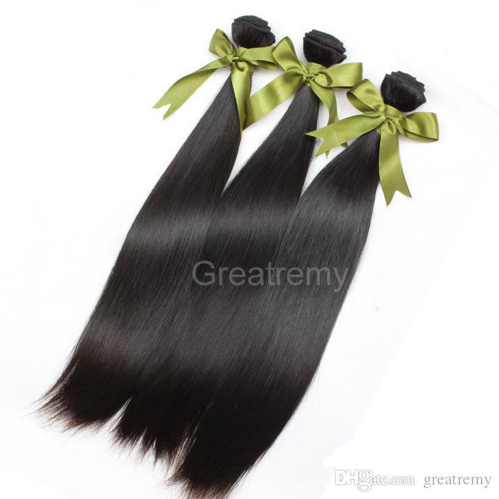 4 sztuk / partia Proste Dziewiczy Malezyjski Miękki Pięciwiasty Proste Włosy Uwagi Miękkie Włosy Weeps Greatry Human Włosy Rozszerzenie