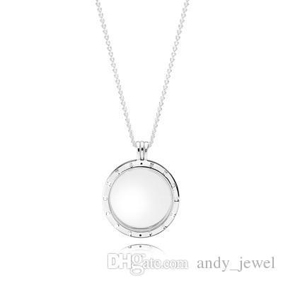 Плавающие Медальоны Аутентичные 925 серебряных шарики Медальон ожерелье Подходит для европейского Pandora ювелирных изделий типа очаровывает ожерелье 590530