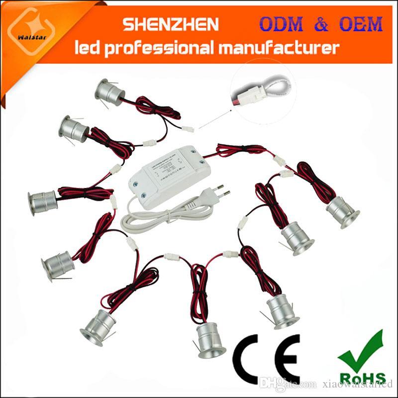 9 teile / satz LED exihibition Lampe wandscheinwerfer led mini deckenscheinwerfer mini led downlight geschnitten größe 20mm