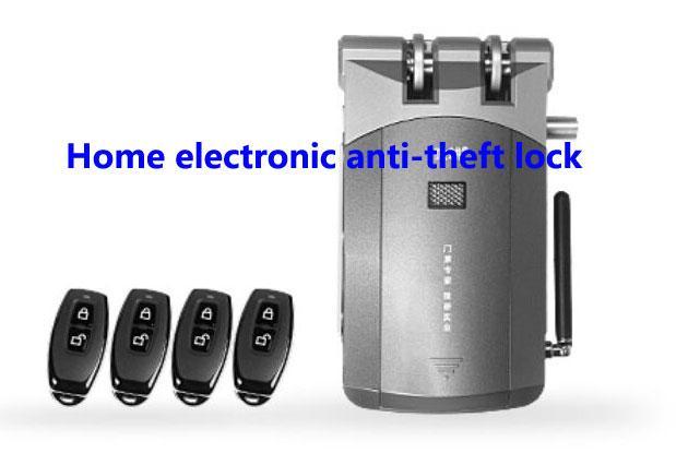 Navio livre, trava de segurança anti-roubo, bloqueio invisível eletrônico, fechaduras de controle remoto, bloqueio inteligente, terno de instalação interior para casa, porta importante