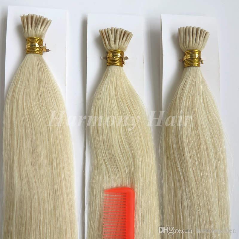 브라질 머리 각질 U 네일 팁 스트레이트 인간의 머리 확장 50 스트랜드 각 팩 50 그램 고급 8 색