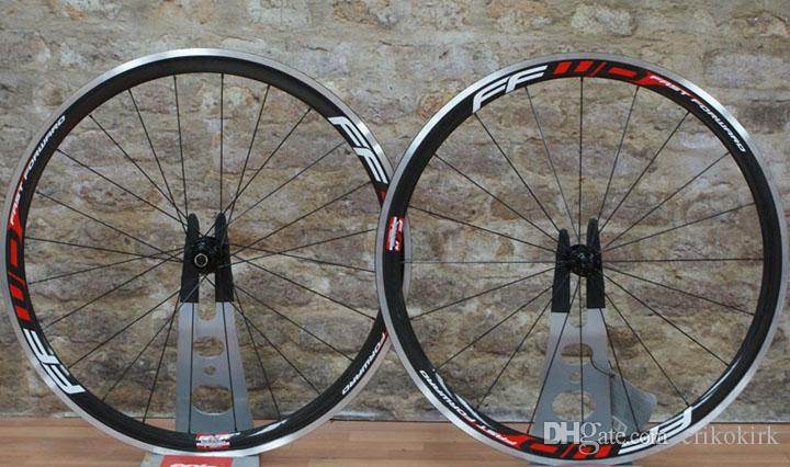 ffwd aluminum surface road bike wheels 38mm alloy carbon bicycle wheels 3k weave with powerway R13 hubs with ceramic bearing hubs