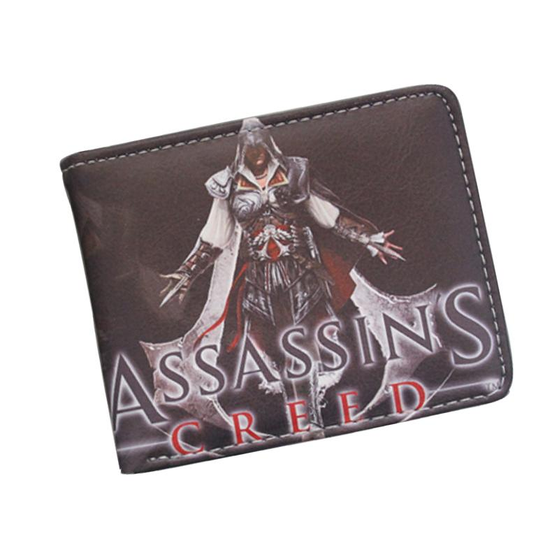 Mens Wallet for Assassin Creed Fans Design Bifold Wallet Short PU Leather Game