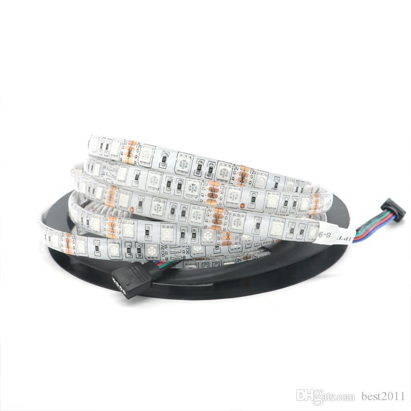 RGB 5050 SMD 300LED 5M Vattentät IP65 LED Flexibel Strip Light DC 12V Bytbar färg för julfest utomhusljus