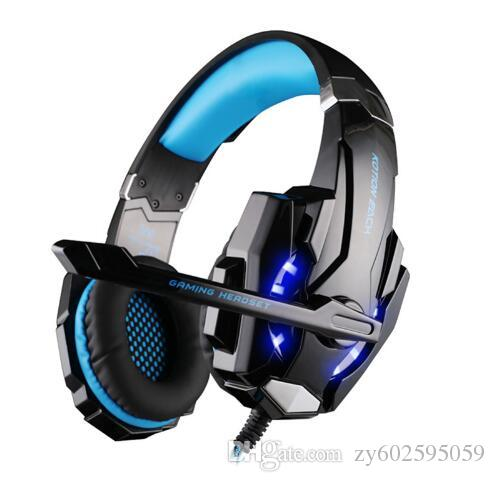 EACH G9000 3.5mm Game Gaming Headphone Headset Earphone With Mic LED Light For Laptop Tablet / PS4 / Mobile Phones