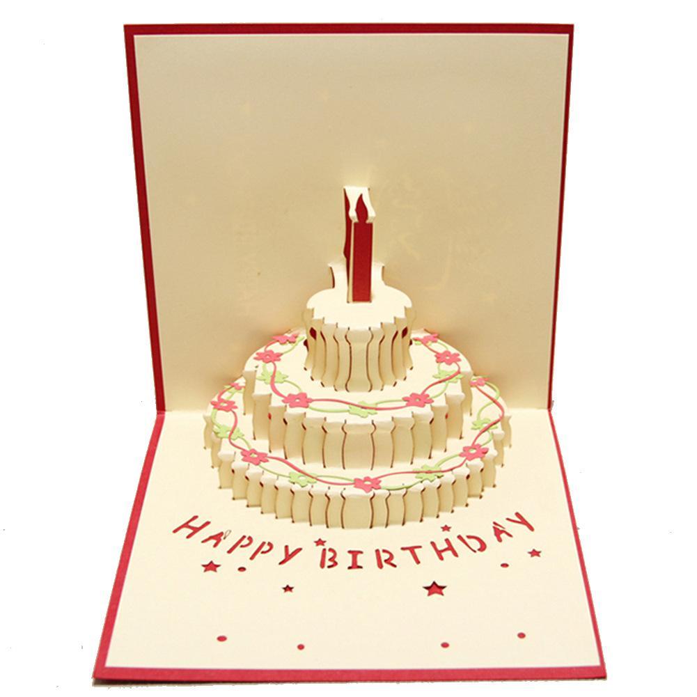 15x15cm 3d Foldable Birthday Greeting Card Laser Cut Paper Card – Foldable Birthday Cards