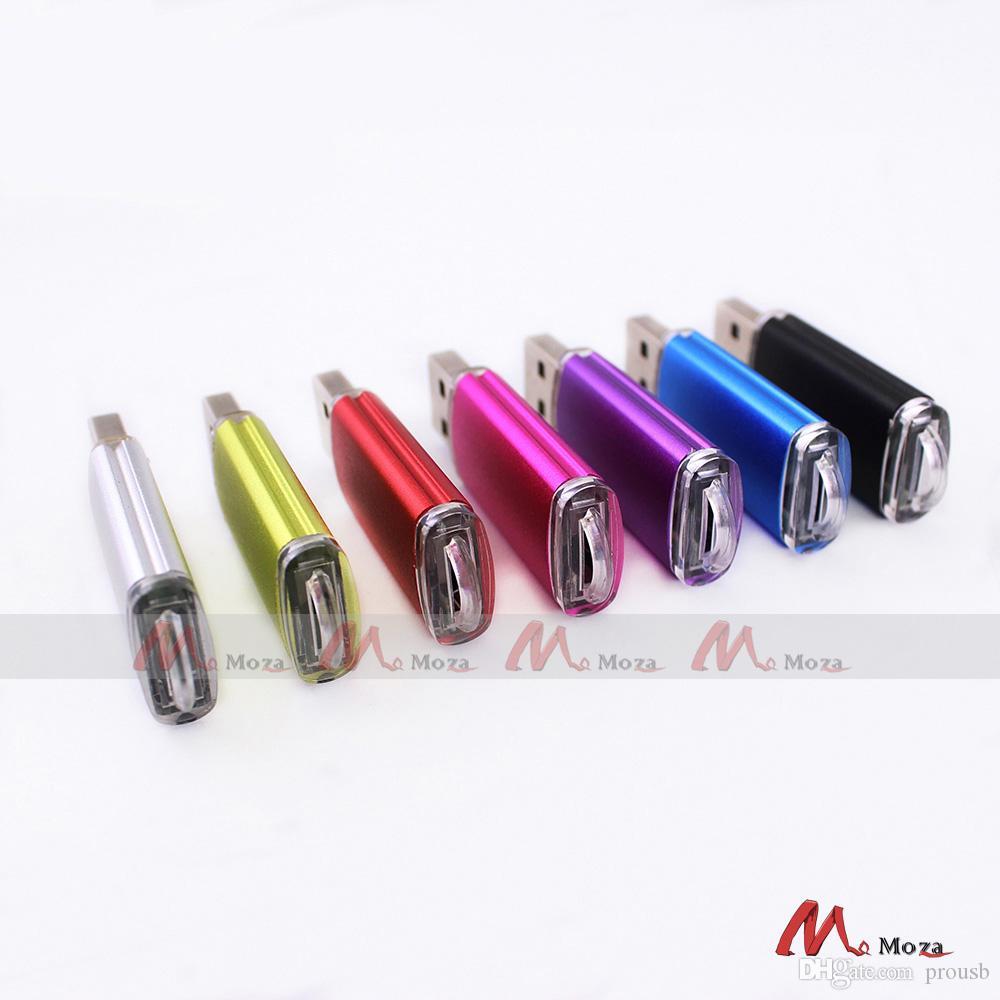 Free Laser Engraved Logo 50PCS 128MB/256MB/512MB/1GB/2GB/4GB/8GB/16GB USB Flash Drive 2.0 Metal Memory Pendrive Simple Style