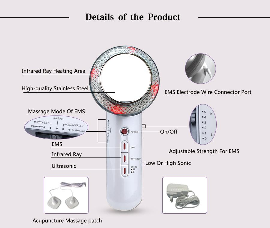 Health & Beauty Care Body Spa Device 3-IN-1 IR & Sonic ...