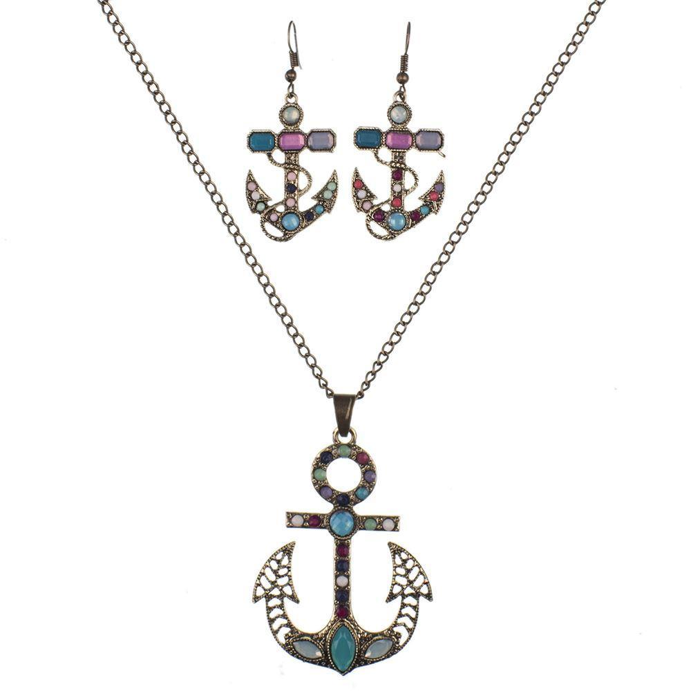 MS1504519 Insiemi dei monili di modo Insiemi della collana di alta qualità per i monili delle donne Resina di cristallo Ancoraggio unico Oceano animale Design
