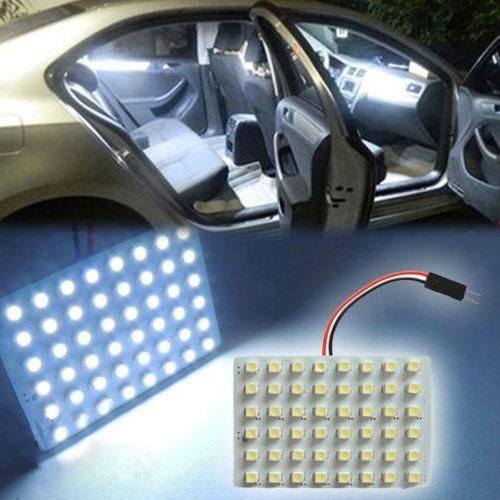 48 Smd Cob Led T10 4w 12v Car Interior Panel White Light Dome Lamp Bulb Dome Light Auto Led Replacement Bulbs Auto Leds Lights From