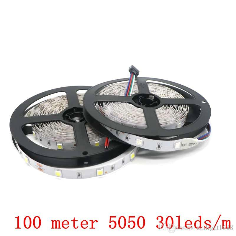 High Quality Led Strip 5050 5M 150LEDs DC12V 30LED/M Flexible Light Non-Waterproof Ribbon Lamps Free Shipping