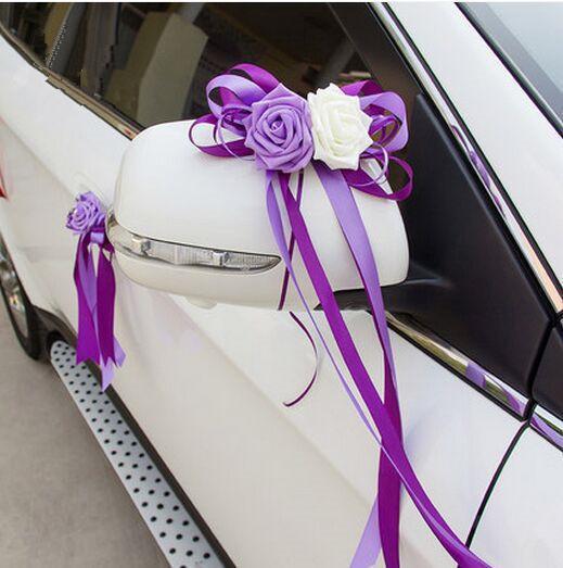 Decorazione floreale rosa PE per auto decorazione auto matrimonio con fiori rosa da sposa