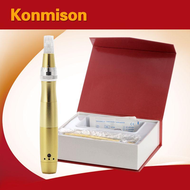 Piel LED Derma pluma de fotones rejuvenecimiento de microagujas Dermapen con el envío 52pcs cartuchos de aguja del salón de belleza Uso de DHL