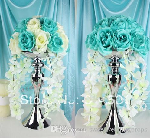 hayır dahil çiçekler) Düğün masa centerpieces için çiçek topları vazo standı