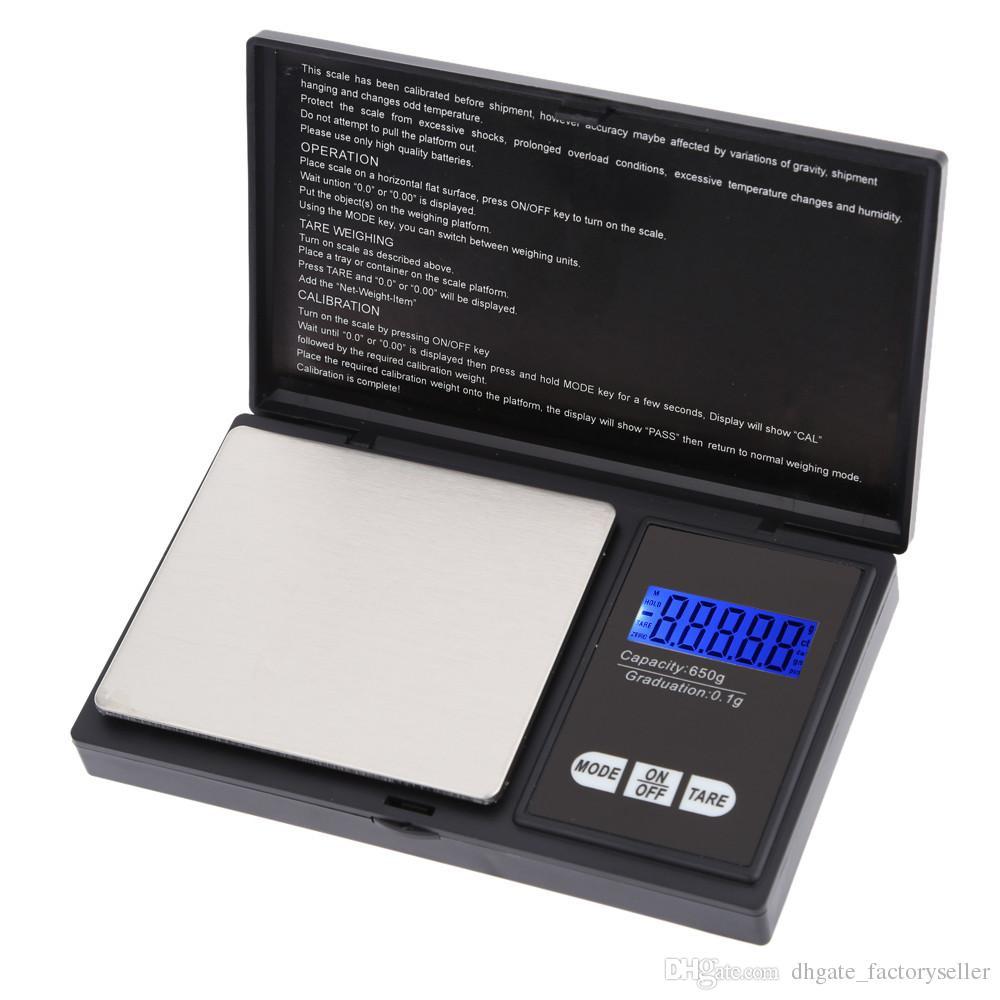 650 جرام / 0.1 جرام عالية الدقة البسيطة الجيب الرقمية مقياس مجوهرات وزنها الرصيد الأزرق lcd g / gn / oz / ozt / ct / t / dwt H9631