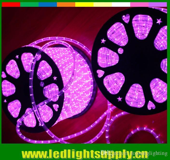 50meter 110В 2 провода круглый свет веревочки 164 футов(50 м) 12мм светодиодные полосы света на Рождество праздник фестиваль украшения наружного освещения