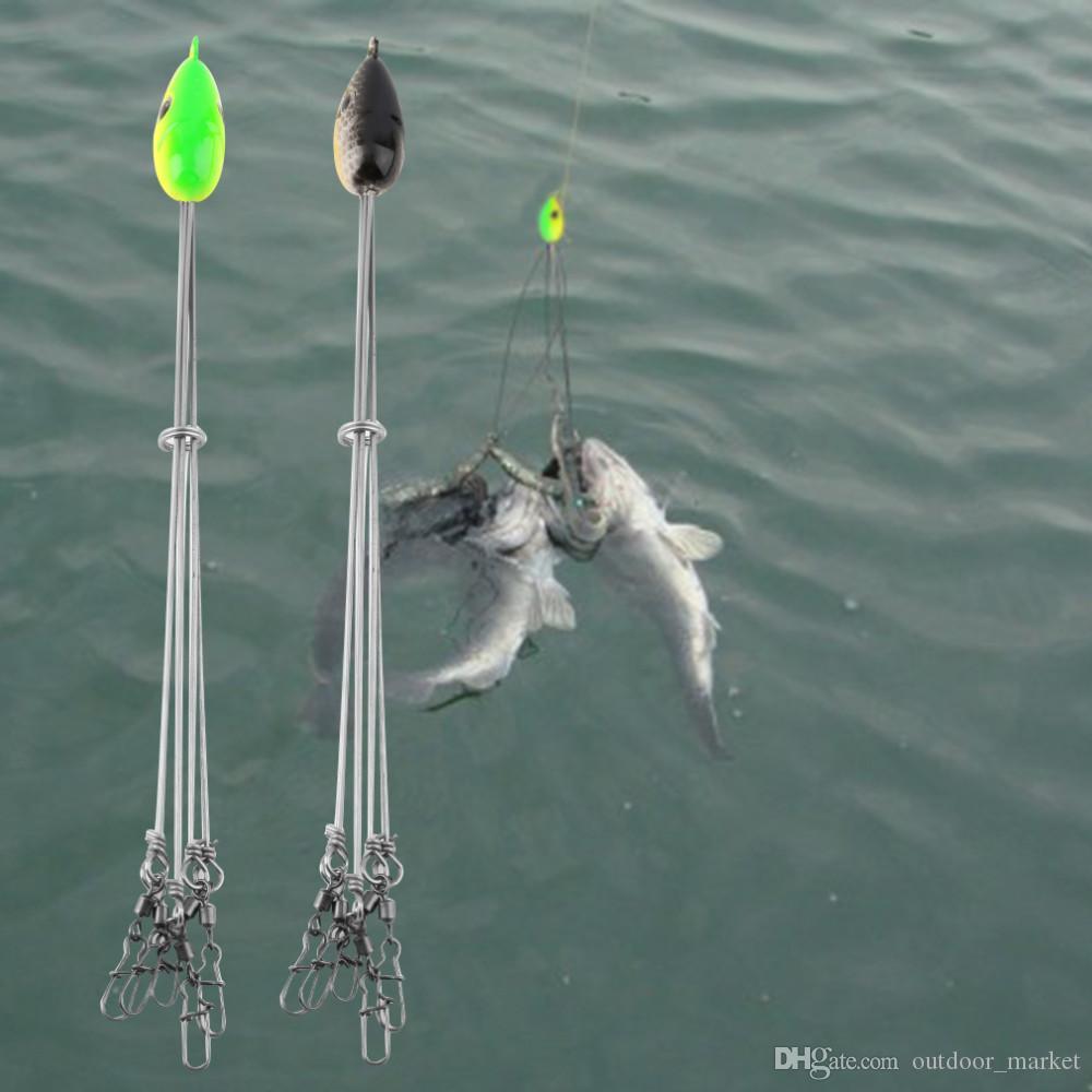Ao ar livre Conveniente Iscas De Peixe Gancho De Pesca Equipamento De Aço Inoxidável Multifuncional Equipamento De Pesca Combinação frete grátis