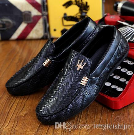 hot maserati fashion knit business casual shoes breathable