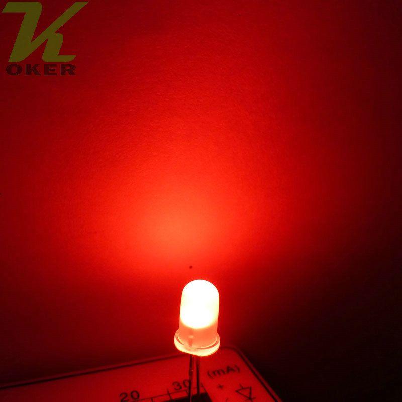 1000pcs 5mm rosso diffuso led lampada a led led diodi 5mm diffuse rosso ultra luminoso rotondo led light spedizione gratuita