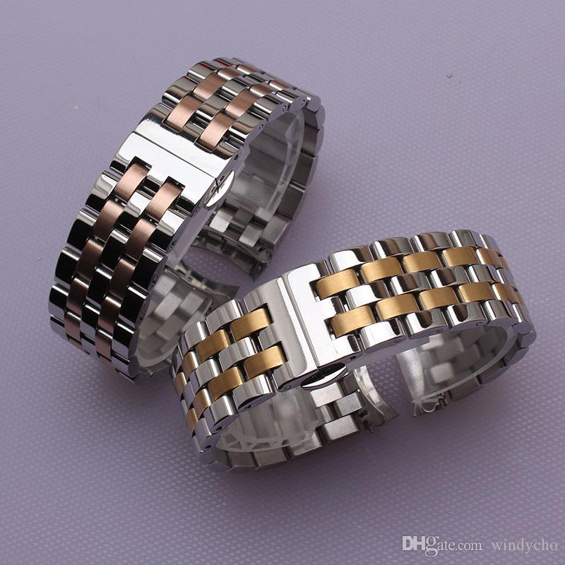 Nuevo 16 mm 18 mm 20 mm 22 mm 22 mm correa de moda correas pulsera color mezclado relojes accesserios Oro Plata Rosegold envío libre de endfree