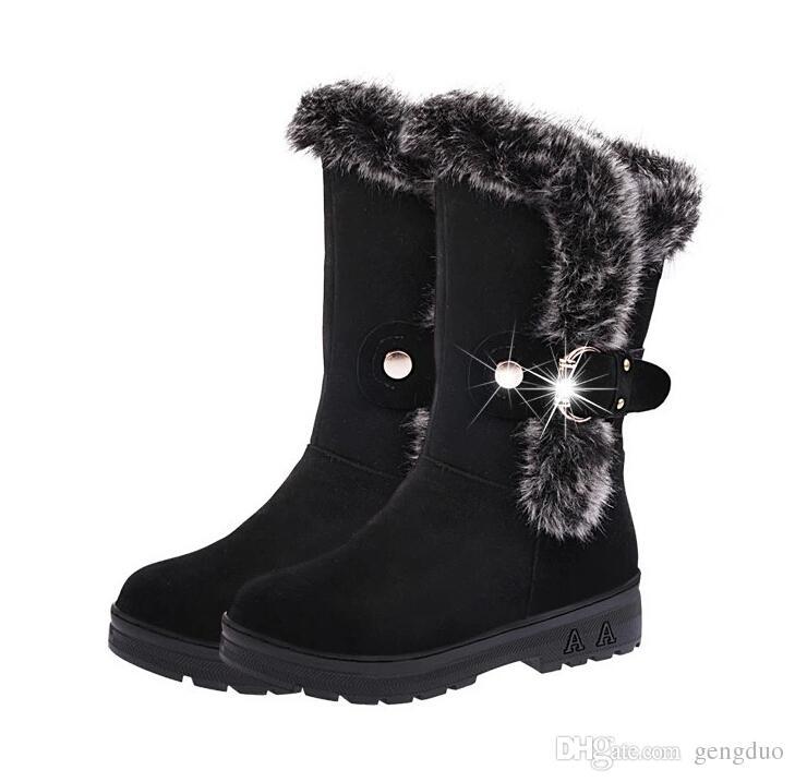 Botas de neve Botas femininas Botas de Tornozelo para As Mulheres 2016 Botas de Moda Senhora Botas de Inverno Zapatos Mujer Sapatos de Inverno das Mulheres Botas de pelúcia Curtas
