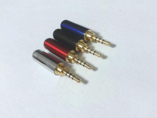 40 قطع النحاس 2.5 ملليمتر الصوت 4 القطب ذكر إصلاح سماعات التوصيل محول لحام