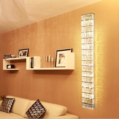 Hallway Large crystal wall lamps Led wall sconce Modern 110-240V Novelty E14 bedroom porch Led wall fixtures professional lighting Abajur