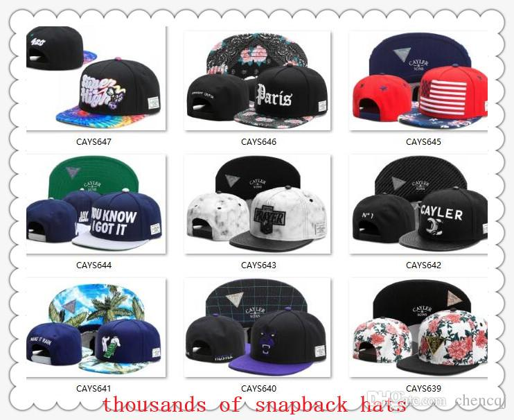new Snapback Hats Cap Cayler & Sons Snap back Baseball football basketball Caps Hat Adjustable size drop Shipping choose hats from our album