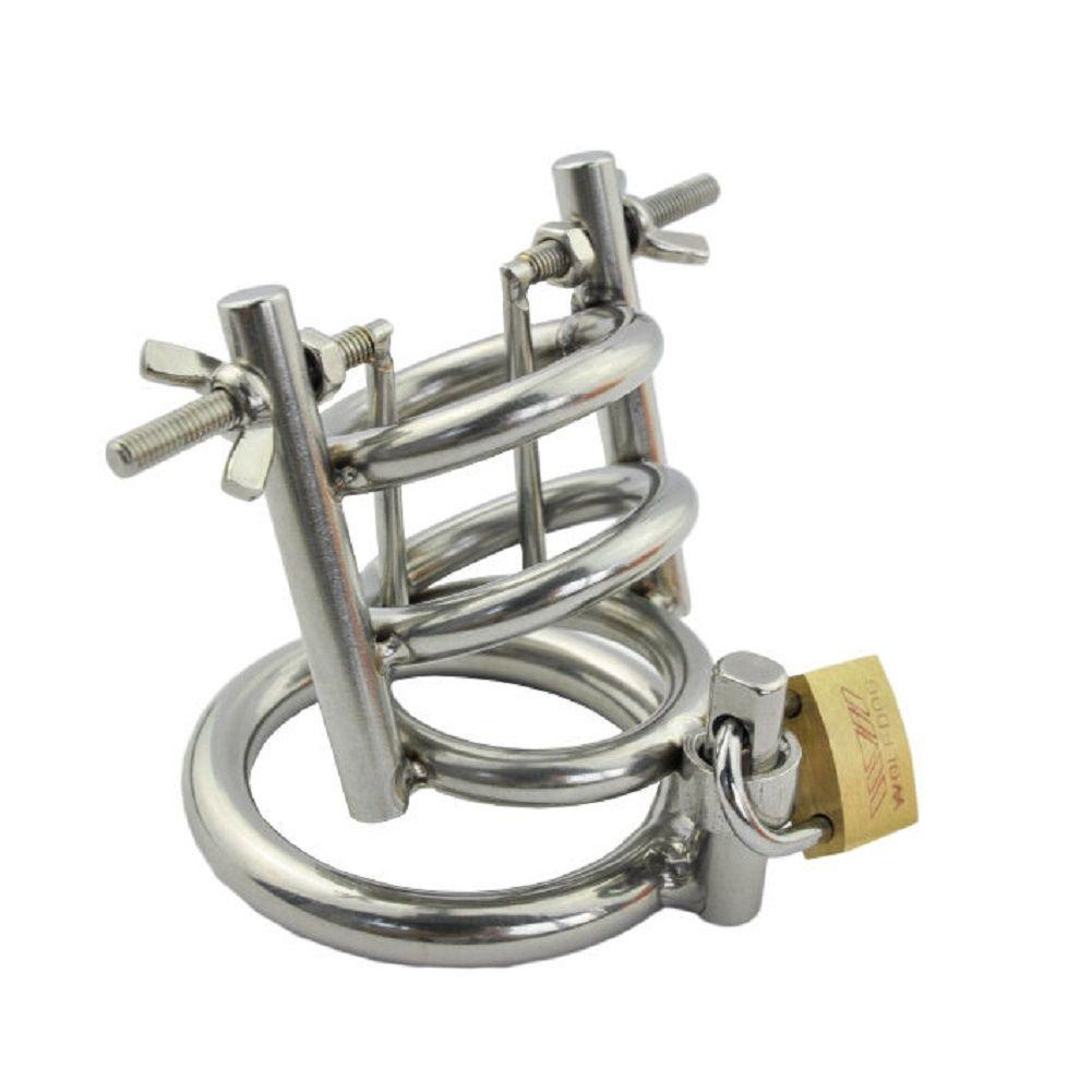 New Hot Mens Male Chastity Device Belt Urethral Stretching Bondage Fetish B083 #R172