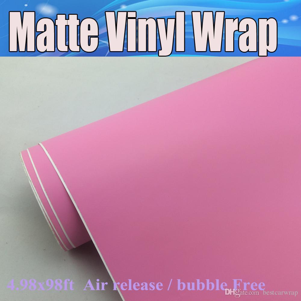 الوردي ماتي الفينيل التفاف الهواء الافراج عن ملصقات التفاف سيارة مات الوردي تغطي احباط الرسومات حجم الفيلم: 1.52 * 20 متر / لفة 4.98x98ft