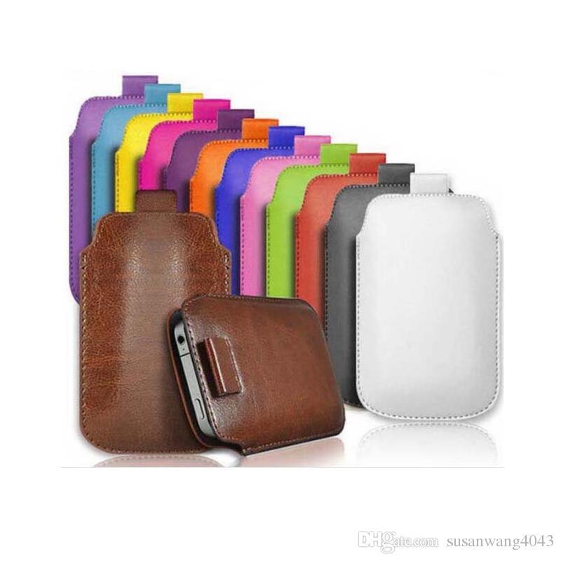 Arbeiten Sie Universalhandytaschen PU-ledernen Mappenkastenbeutel-Zugvorsprungbeutel für iphone 7 6 6s plus Anmerkung 5 s4 s6 Handytasche + Schnur GSZ369 um