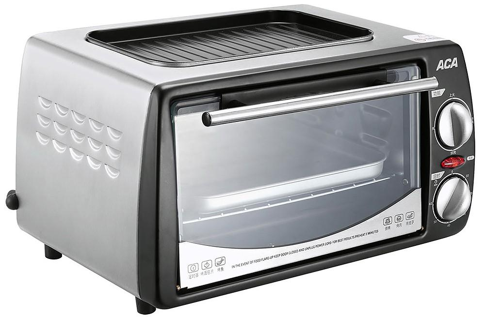 Acero inoxidable Mini horno eléctrico Horno para hornear 60 minutos Solución de tuberías de calefacción arriba y abajo