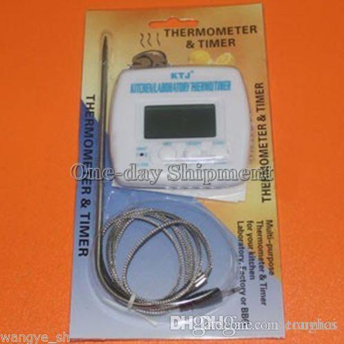 LCD Dijital Zamanlayıcı Termometre Alarmı Pişirme Mutfak BARBEKÜ Gıda Araçları Aksesuarları H210302