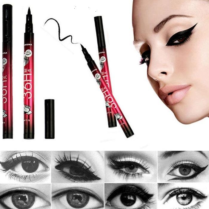 100pcs Arrivals Mais recente Preto Waterproof Pen Líquido Eyeliner Eye Liner lápis Make Up Beleza comestics (T173) frete grátis