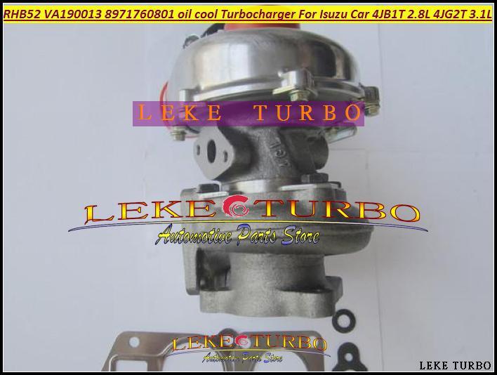 Turbo For ISUZU Car Engine 4JB1T 2.8L 4JG2T 3.1L RHB52 VA190013 8971760801 oil cooled Turbocharger with Gaskets (6)