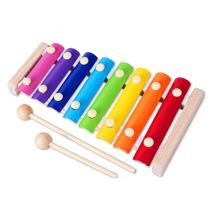 قرص ثمانية البيانو طفل رضيع الإيدز الأطفال ألعاب تعليمية خشبية ضرب إكسيليفون إرسال الأكشاك تبلتثر بيع