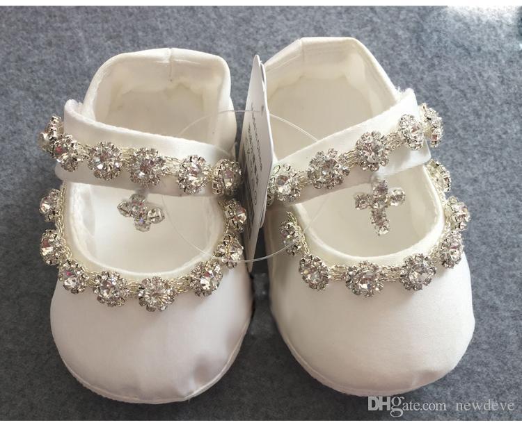 Bling Bling Nuovo arrivo Battesimo Scarpe per Baby Rhinestone Bambini Abbigliamento formale Abory Scarpe da ragazze di cristallo in stock