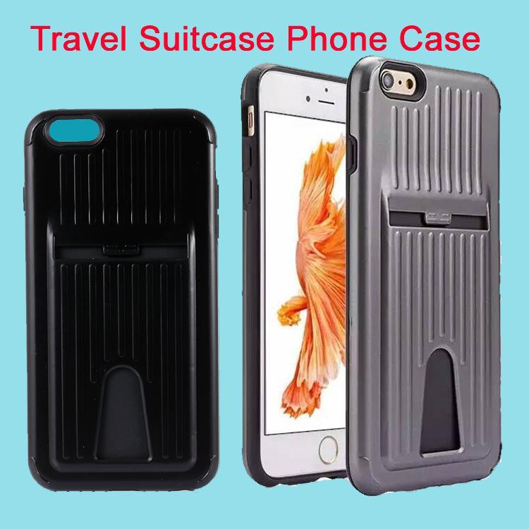 아이폰 5S 6 6s 플러스 7 7plus에 대 한 새로운 미니 수하물 여행 짐 가방 휴대 전화 케이스 커버 삼성 갤럭시 S6 DHL 무료 SCA143