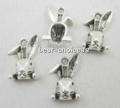 100 Stücke Tibetischen Silber Kaninchen Charms Anhänger Für Schmuck Machen Armband 15x10mm