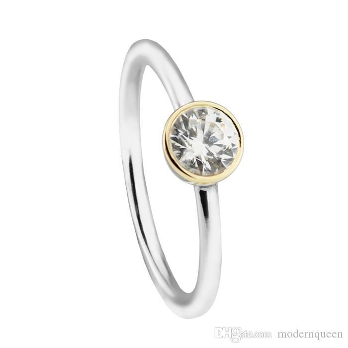 Anelli in argento Placcato oro Significato Signet S925 Adatto per gioielli stile originale H8ALE 191043CZ
