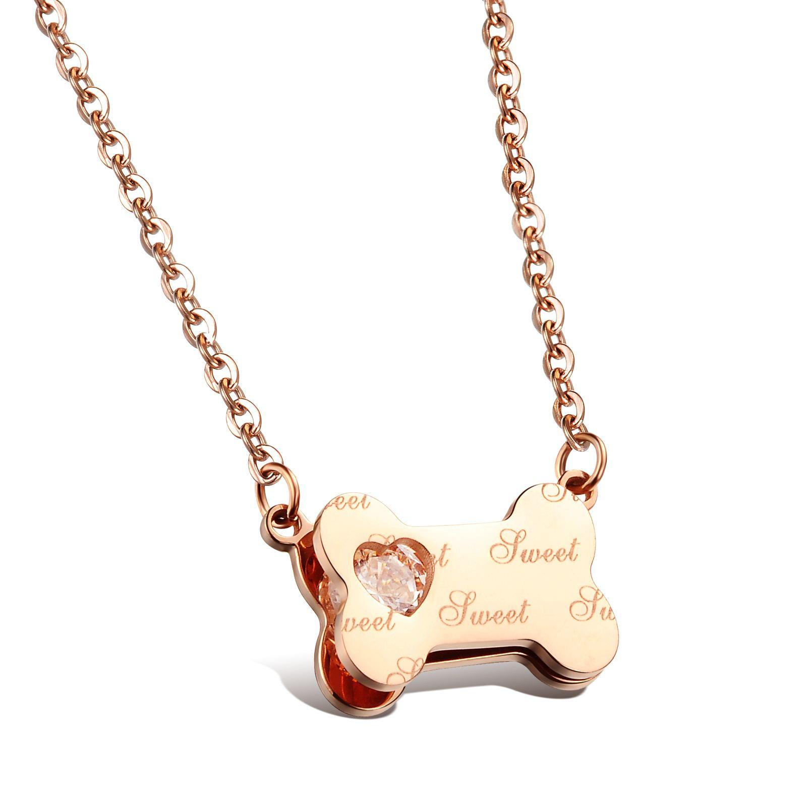 The new steel pendant necklace Girls Sweet bones small commodity wholesale bestie send to send his girlfriend N989