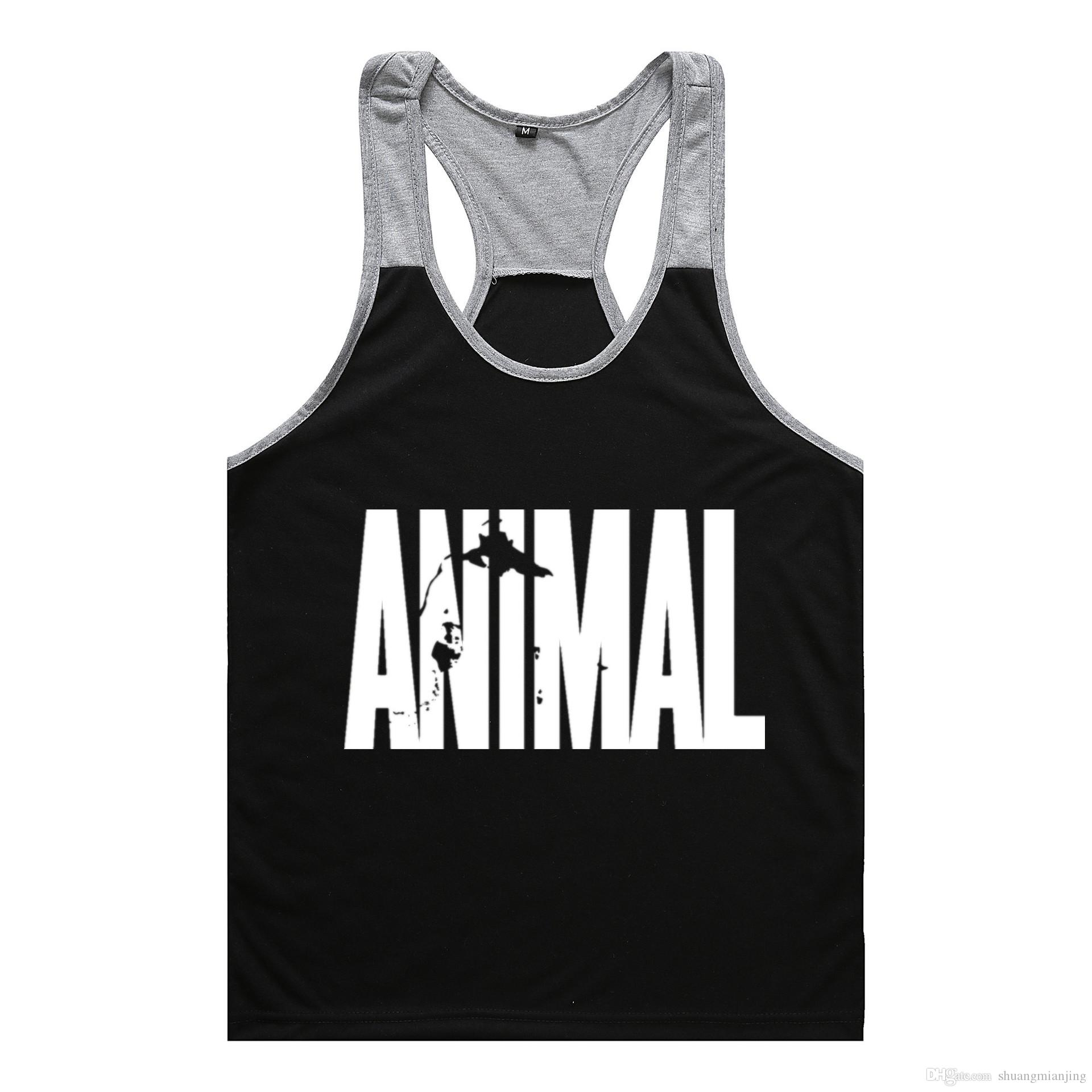 Free shipping Brand gym vest clothes fitness mens muscle bodybuilding undershirt tank tops men gym sleeveless singlet clothing