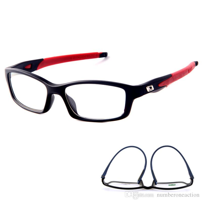 Marco Hombres Mujeres marcos de las lentes Deportes Gafas de cristal llanas Espectáculo de silicona óptico Marca Vidrios del ojo lentes de marco deporte de los hombres