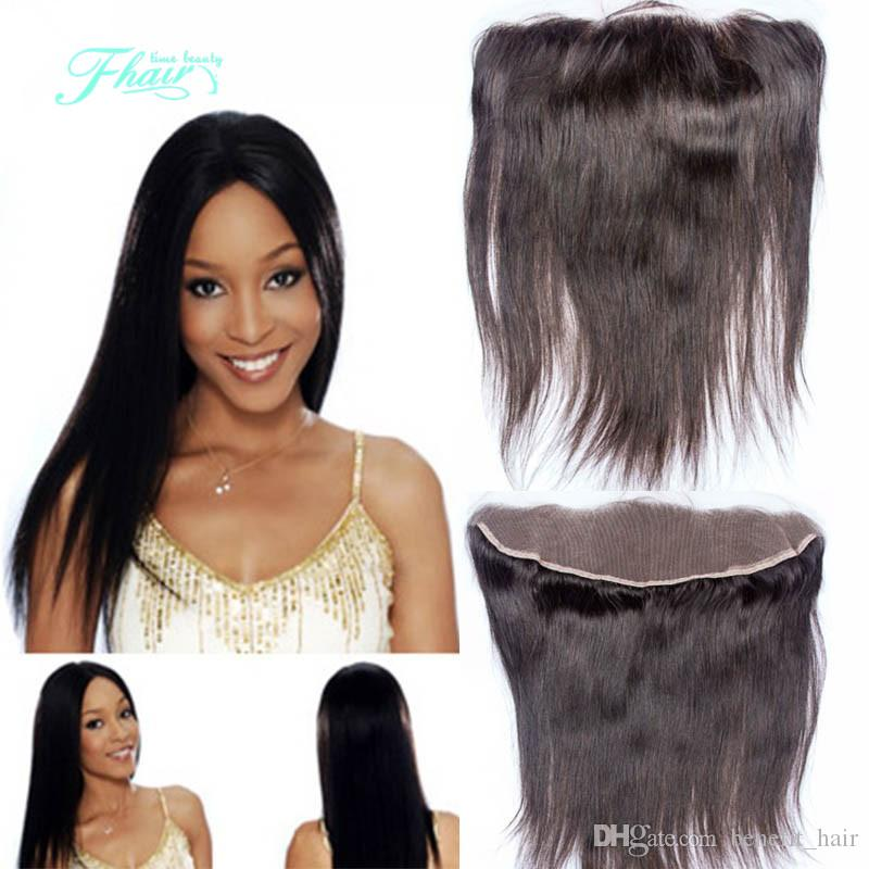7A Straight Indian Lace Frontal Closure 13x4 With Free Shipping Unprocessed Hair Ear To Ear Lace Closure Bleached Knots