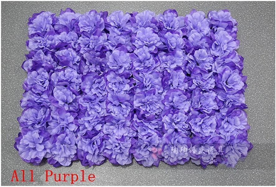 Ems-freies Verschiffen 10pcs / lot alle purpurrote Dahlie Rosen-Blumenwandhochzeits-Hintergrundrasen / Pfostenblumenheimmarktdekoration
