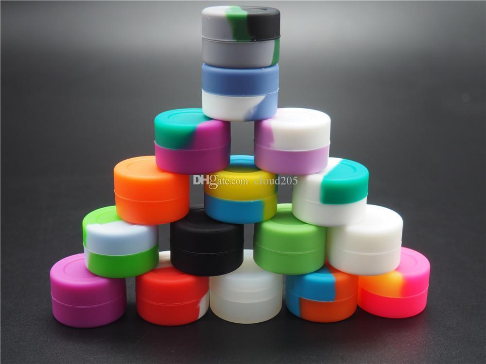 De valores en EE.UU.! silicona BHO contenedores 500X Eco antiadherente amistosa tarros de contenedores de silicona DAB container3ml cera de silicona